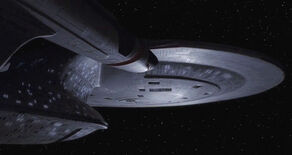 USS Enterprise-D adrift
