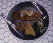 Catfish with lemon