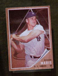 Roger maris trading card