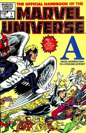 Official Handbook of the Marvel Universe Vol 1 1
