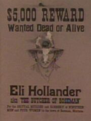 Eli Hollander Wanted Poster