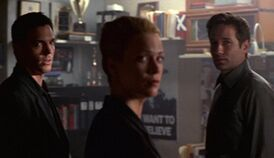 Alex Krycek, Marita Covarrubias and Fox Mulder