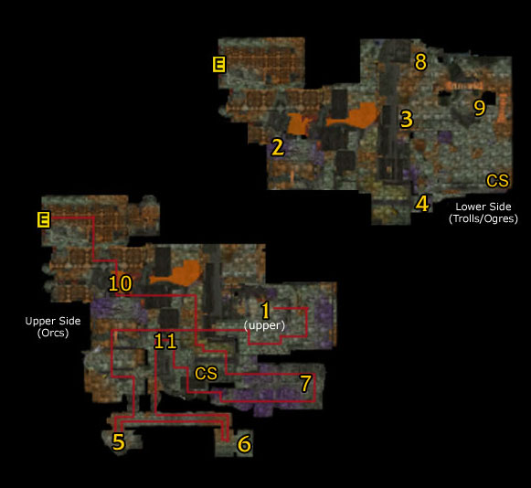 Lower Blackrock Spire Guide Map
