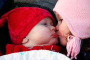 Smooches (baby and child kiss)