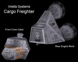 Cargo Freighter Isometric