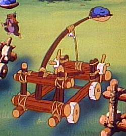 Ewok cartoon catapult