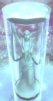 Elune Statue Top View WoW Godddess