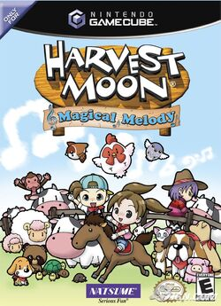 Harvest Moon Magical Melody GCN NA Box art