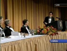 ColbertWhiteHouseCorrespondentsDinner2006Polls