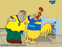 Peter griffin vs pollo cai jere