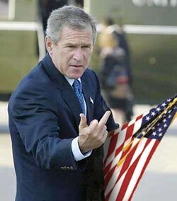 Bush finger flip