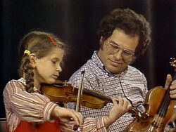 ItzhakPerlman with girl