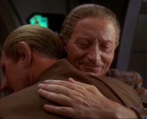Odo and Mora hug in The Begotten