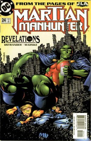 Cover for Martian Manhunter #24