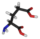 L-glutamic-acid-3D-sticks