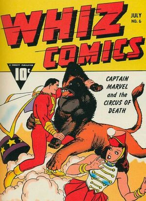 Cover for Whiz Comics #6