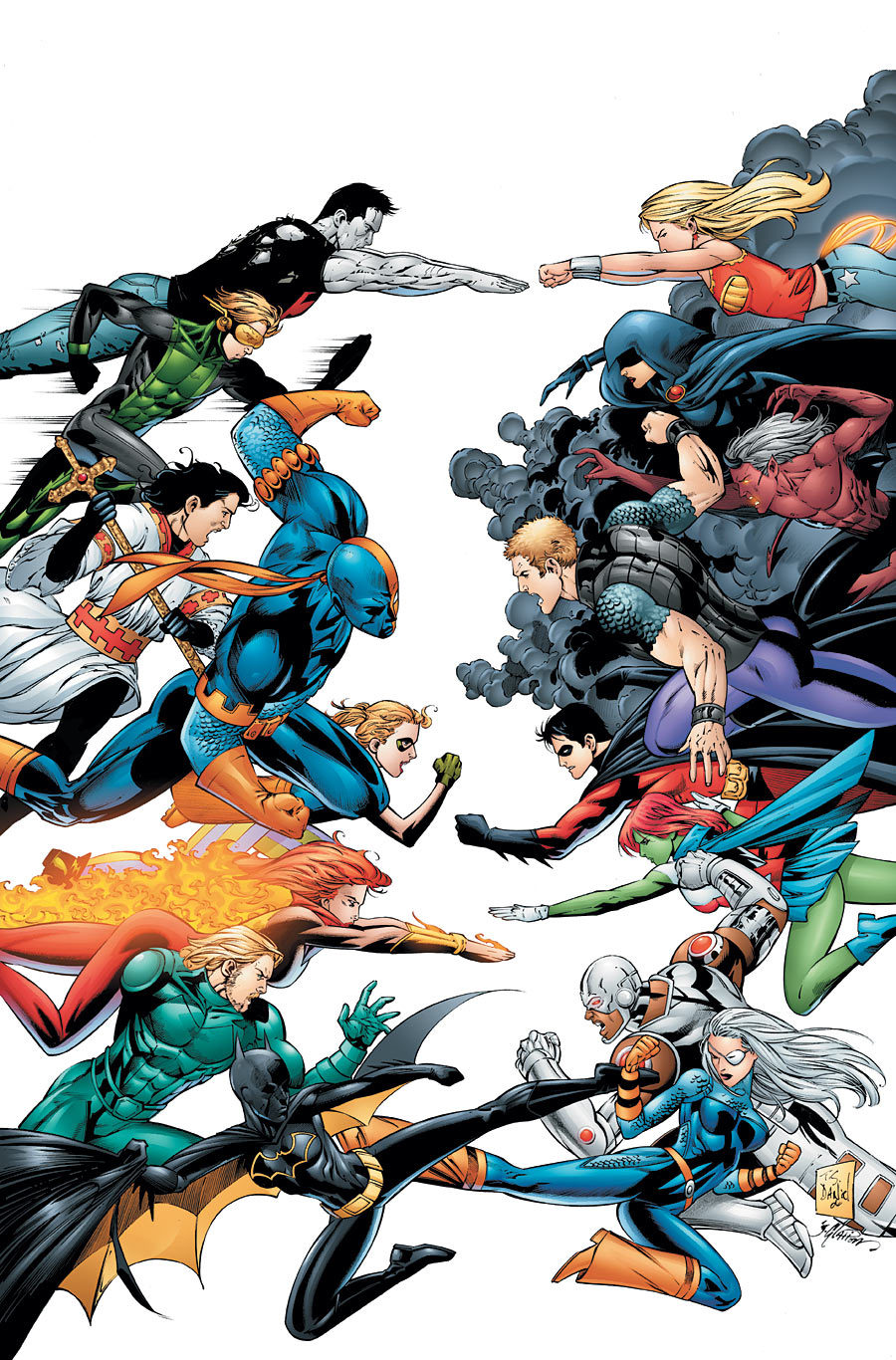 File:Teen Titans vs. Titans East.jpg. Featured on:Teen Titans/Gallery