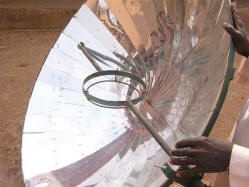 Parabolic cooker in Mali