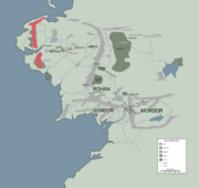 ERED LUIN location map in middle earth