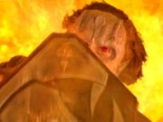 Dukat falling into Fire Caves