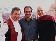 William Shatner, Rick Berman and Patrick Stewart