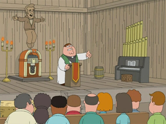 Family Guy Season 4 Episode 18 The Father, the Son, and the Holy Fonz