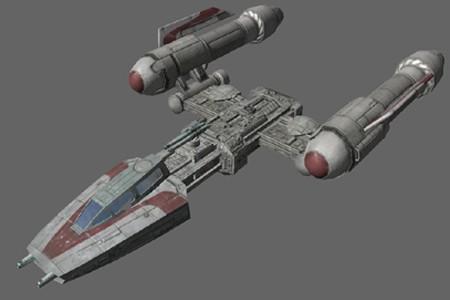 star wars y-wing front gun original vintage ship's part from, Wiring schematic