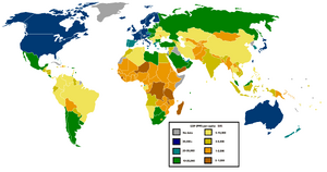 GDP PPP per capita world map IMF figures year 2006(2)