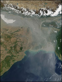 India cooking fire smoke NASA