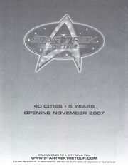 Star Trek The Tour ad from Las Vegas con 2007