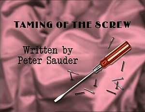 Tamingofthescrew