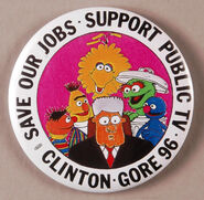 Clinton 96 button