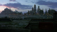 Theed at sunset