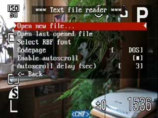 Text file reader