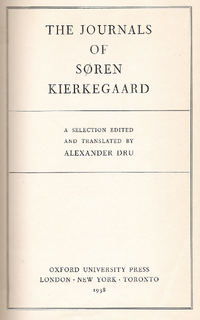 Cover journals kierkegaard