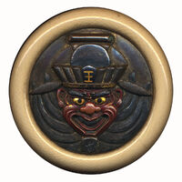 Kagamibuta netsuke front