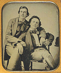 Two seated men ca 1860