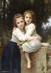 William-Adolphe Bouguereau (1825-1905) - Two Sisters (1901)