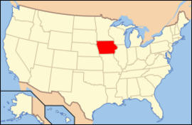 Map of USA IA