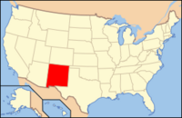 Map of USA NM