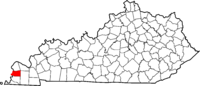 Map of Kentucky highlighting Carlisle County