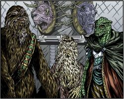 Wookiee Trandoshan peace