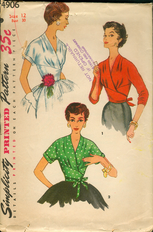 S4906 Blouse Sewing Patterns