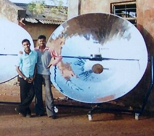 Community solar cooker 2007