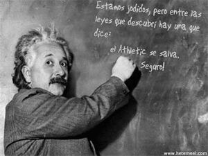 Einstein con el Athletic