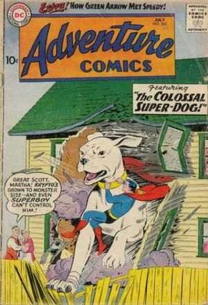 Cover for Adventure Comics #262