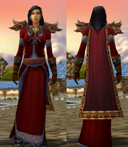 Crimson Silk Set with Robe