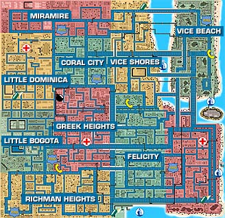 Vice City map (GTA I)