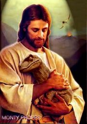 JesusCradleBabyDinosaur
