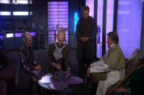Delenn & Lennier meet with Aldous & Jinxo